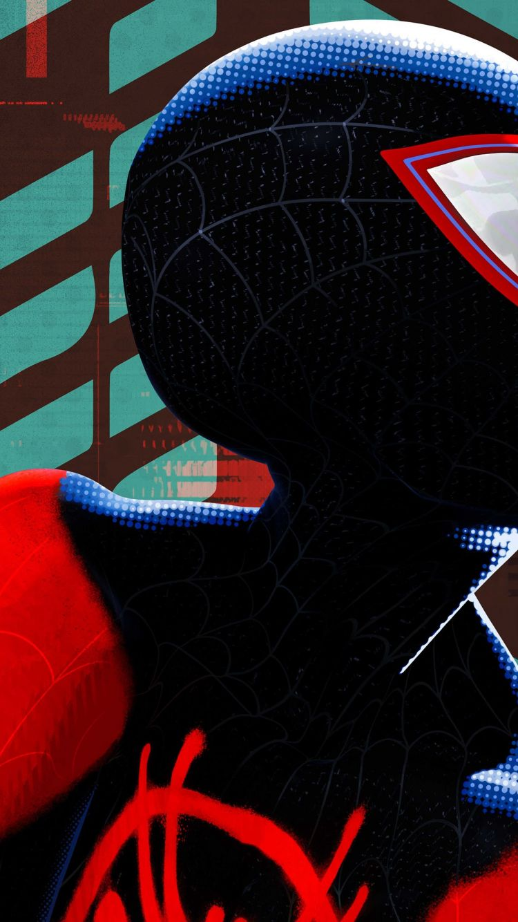 Spider Man Into The Spider Verse Poster 750x1334 Wallpaper Teahub Io