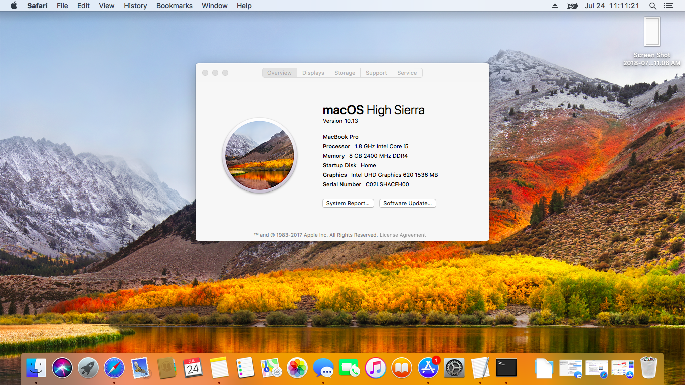 Mac Os High Sierra Screenshot 1366x768 Wallpaper Teahub Io