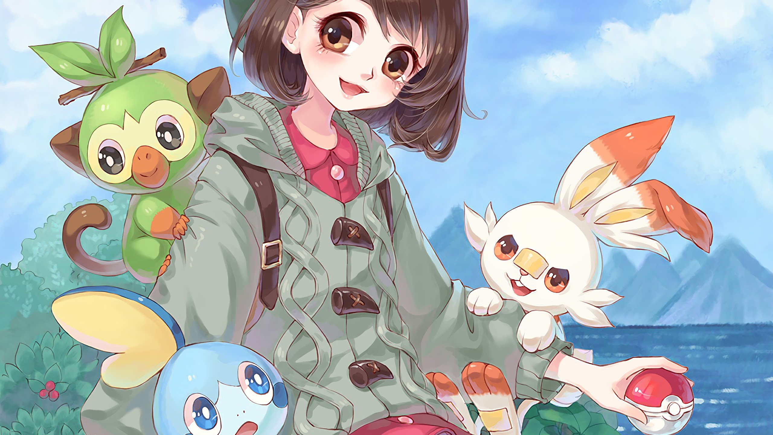Pokemon Sword And Shield Scorbunny Sobble Grookey Pokemon Sword And Shield 2560x1440 Wallpaper Teahub Io Pokemon sw & sh grookey spawn locations where to find and catch, moves you can learn, evolutions you can find and catch grookey using our guide below on how to obtain this pokemon. pokemon sword and shield scorbunny