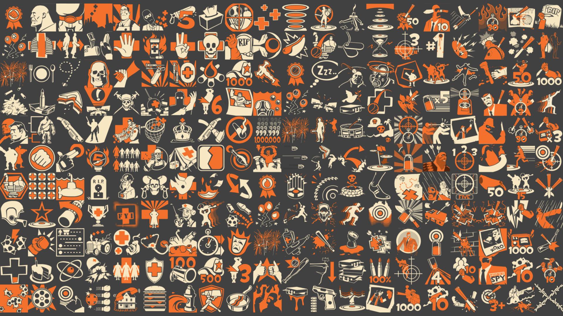 Team Fortress 2 Icons 1920x1080 Wallpaper Teahub Io