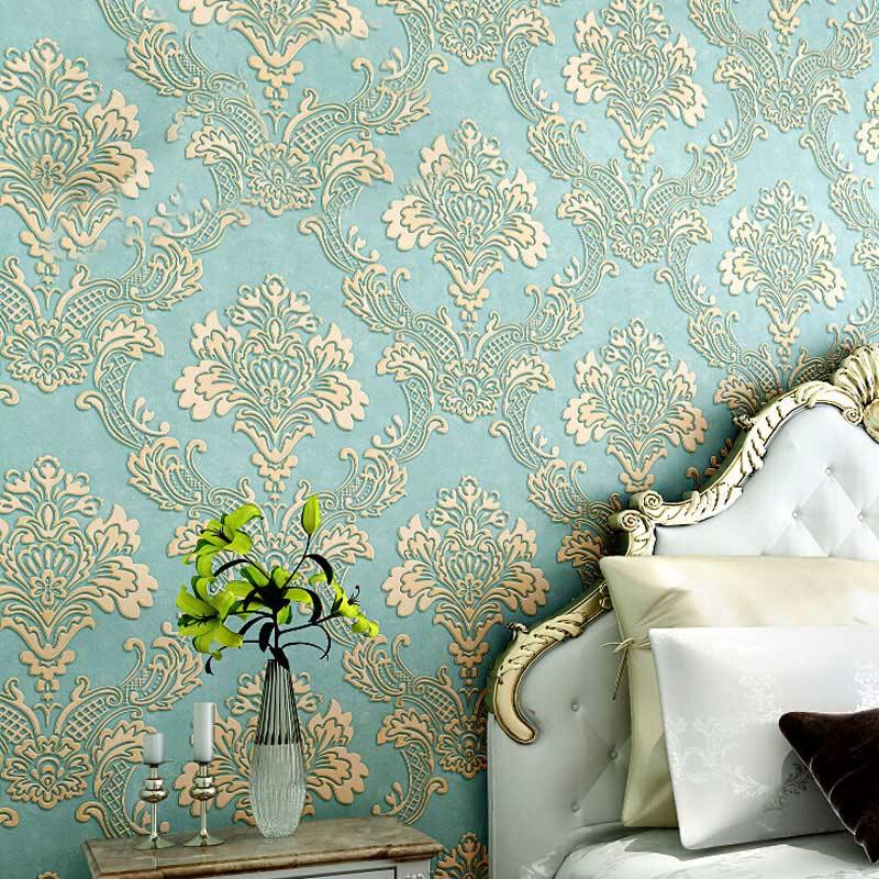 3d Non-woven Wallpaper Damask European Vintage Wallpaper - Vintage Wallpapers For Walls - HD Wallpaper