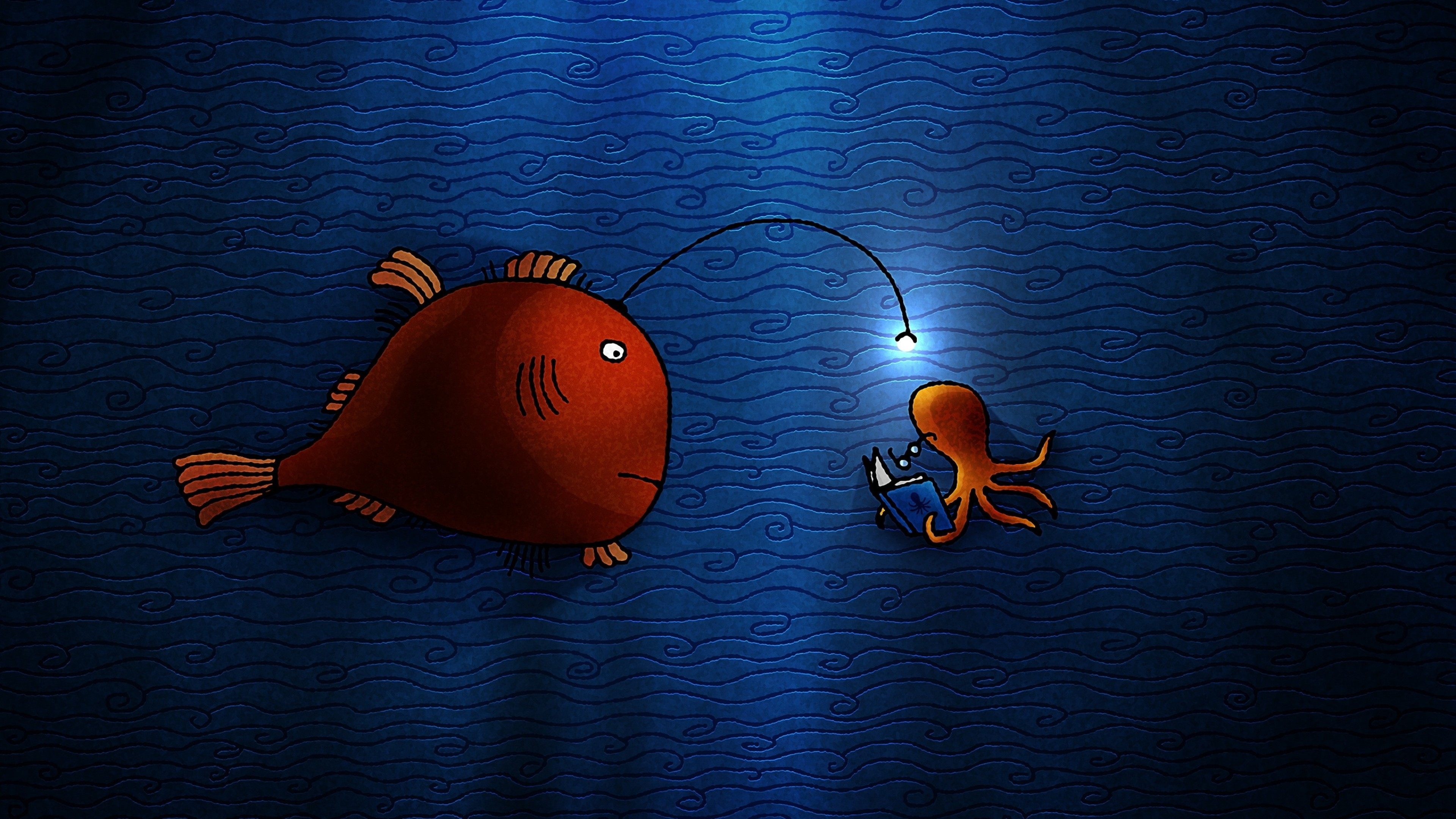 3840x2160, Red Fish Wallpaper For Iphone   Data Id - Youtube Channel Fish Art - HD Wallpaper
