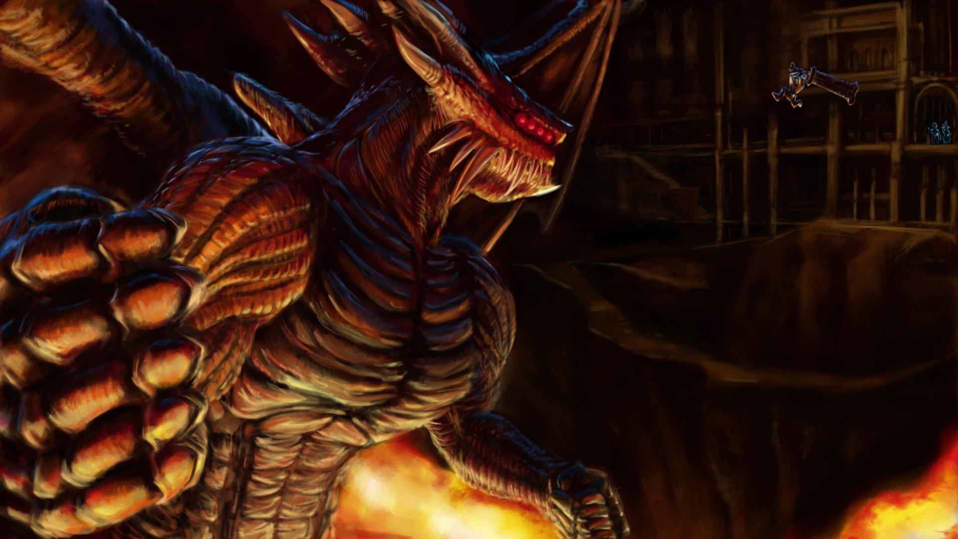 Dragon King Demon Souls - HD Wallpaper