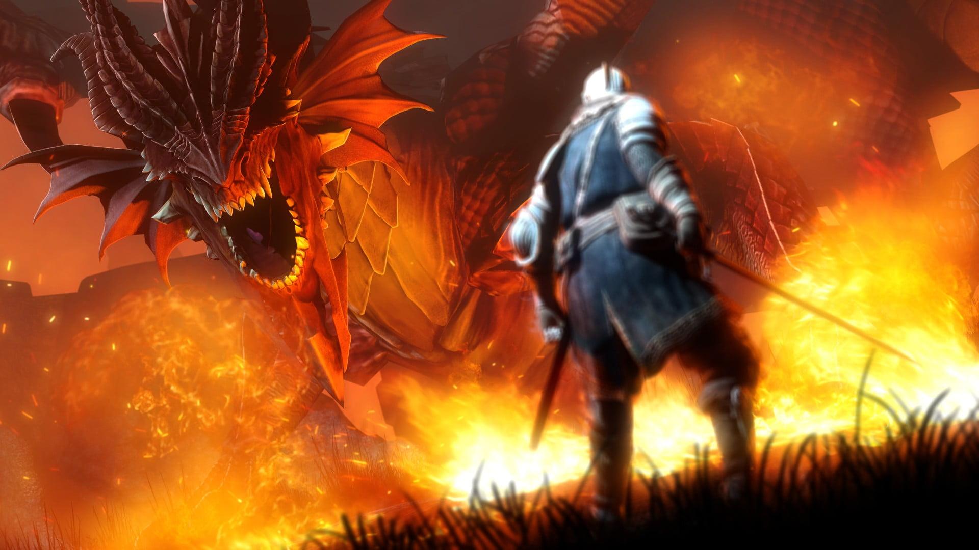 Dragon Fight - HD Wallpaper