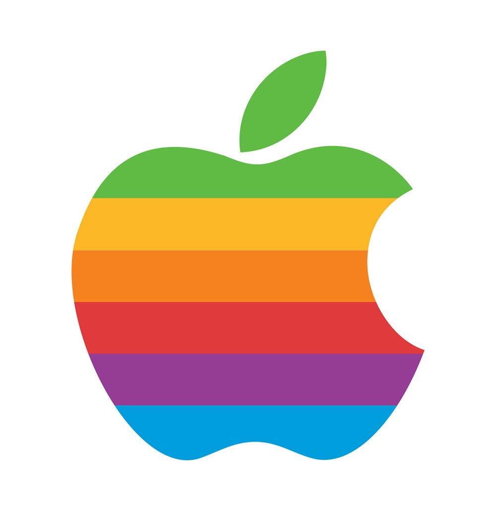 Apple Logo Retro Iphone - HD Wallpaper