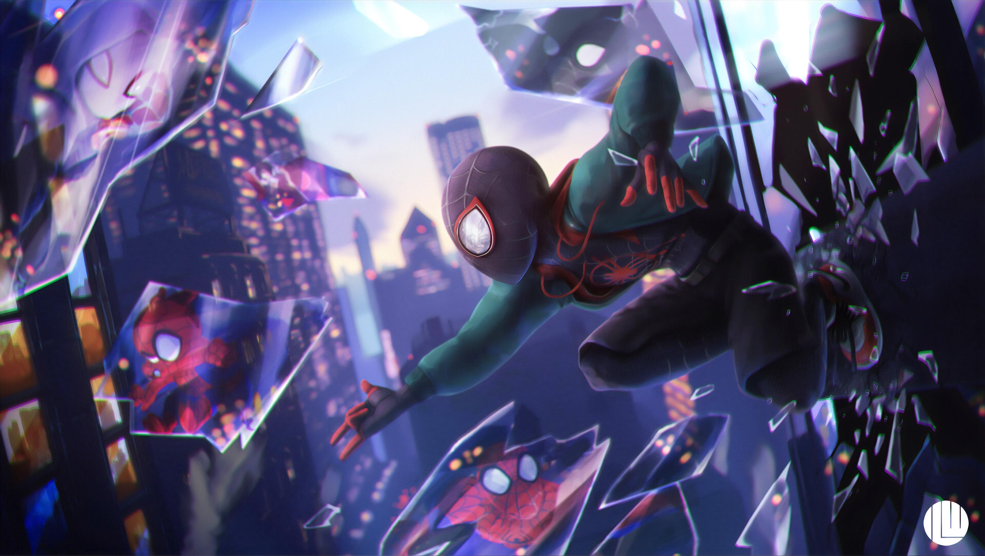 Fondos De Pantalla Para Pc De Spiderman Un Nuevo Universo - HD Wallpaper