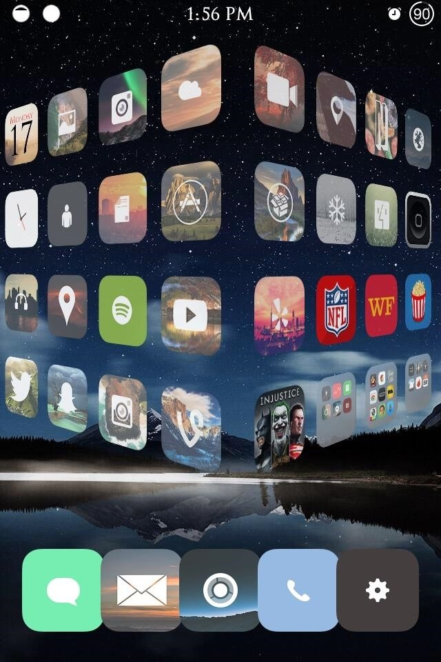 How To Enable 3d Transitional Effects When Swiping - Cool Iphone Screen - HD Wallpaper